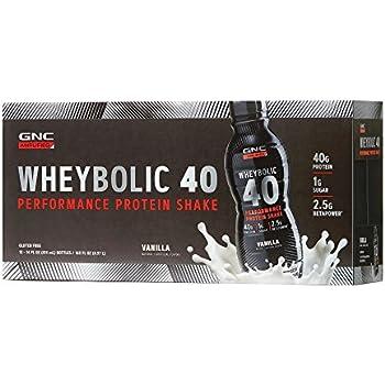 Amazon.com: GNC AMP Wheybolic 40, Vanilla, 12 Bottles