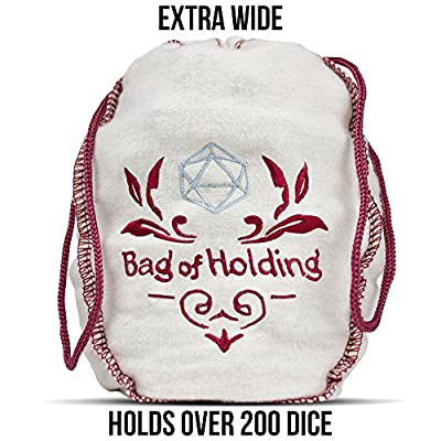 Wiz Dice Bag of Holding: Collection of 140 Polyhedral Dice in 20 Guaranteed Complete Sets for Tabletop Role-Playing Games – Solids, Translucents, Sultry Swirls & Shimmering Sparkles: Toys & Games