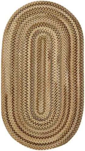 Capel Rugs Manchester Oval Braided Area Rug, 11 x 14 , Beige Hues