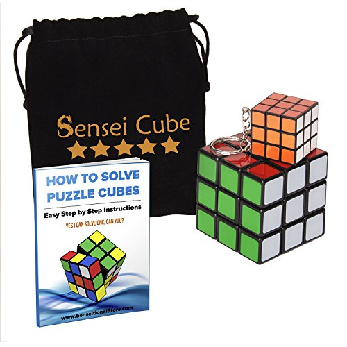 Rubix Cube Costumes (MEGA SALE Sensei Cube - Best Selling Black Stickerless Speed Cube - With Pouch & Puzzle Cubes Solution Guide)