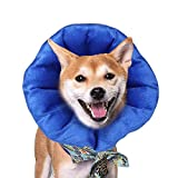 AIFUSI Dog Collar, Inflatable Dog Cone Elizabethan E-Collar Pet Recovery Soft Protective for Dogs and Cats