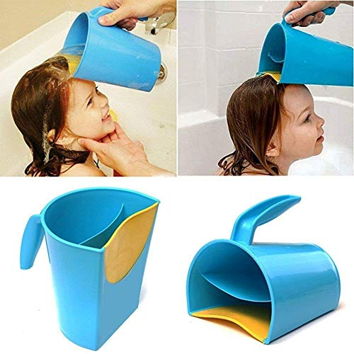 Waterfall Rinser Bath Cup Waterfall Shampoo Rinse Cup Baby Bath Cup Wash Hair Rinsing Cup Water Spoon (Blue) ()