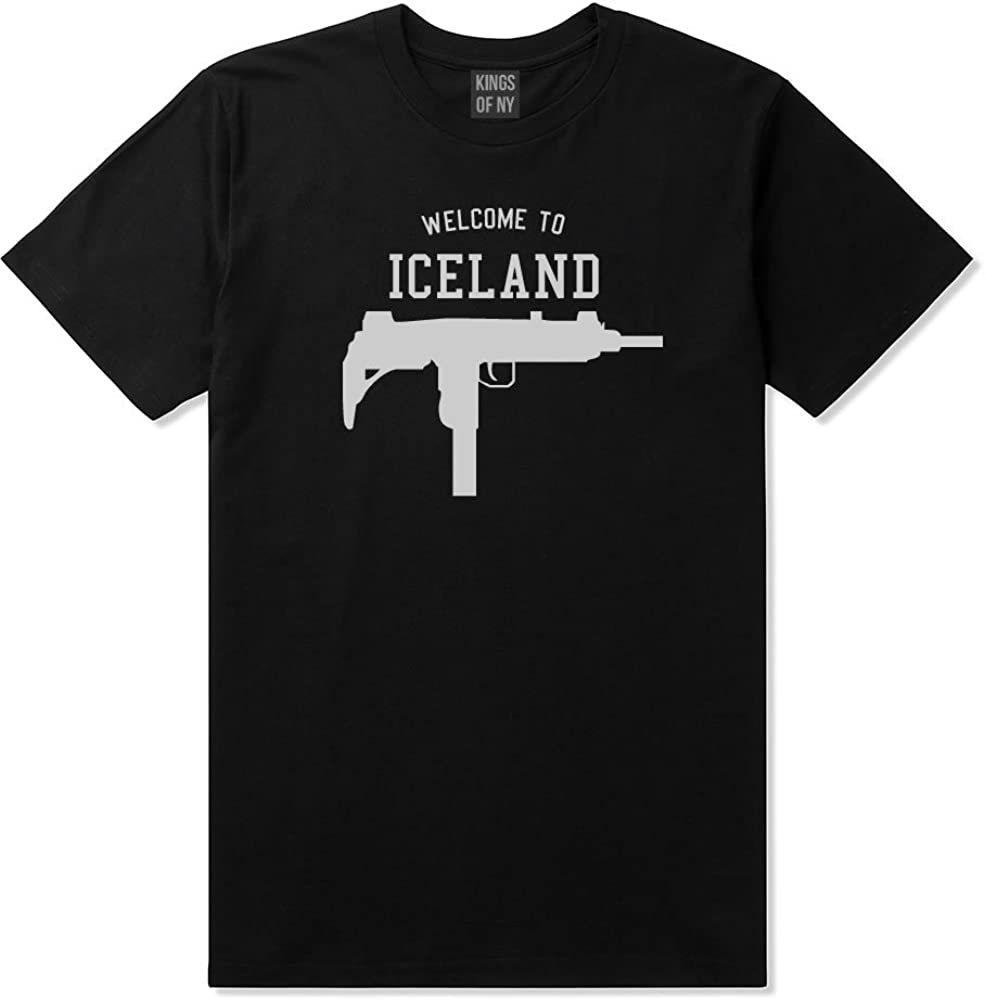 Welcome To Iceland Uzi Machine Guns Country Mens T-Shirt