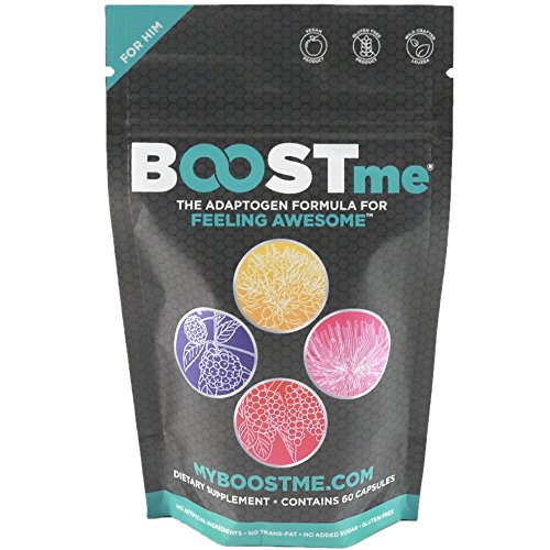Adaptogen Supplements – Balance Male Hormones Naturally – Support Your Cortisol, Thyroid, and Adrenals – Fight Chronic Fatigue, Stress, and Improve Immune System – 60 Capsules – by BOOSTme Review