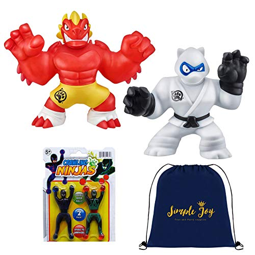 Stretchy Super Heroes (Heroes of Goo Jit Zu - 2 Pack of Super Stretchy Action Figures - Blazagon,)