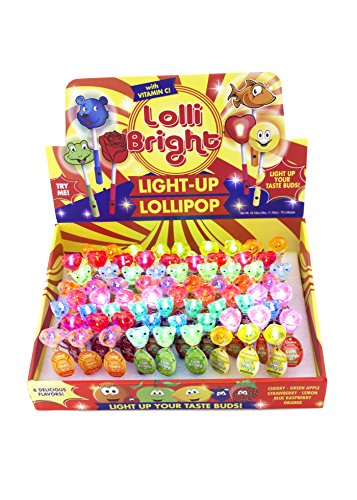 LOLLIBRIGHTS: America's First Color Light-Up Lollipop! (72)
