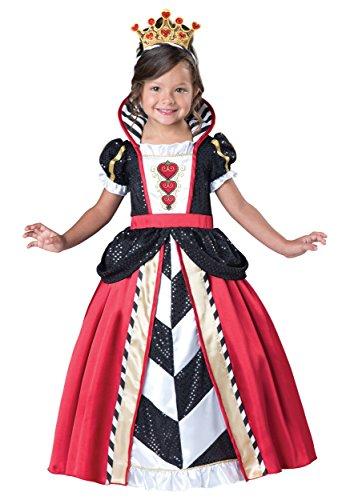 InCharacter Costumes Women's Queen of Hearts Costume, Black/Red,