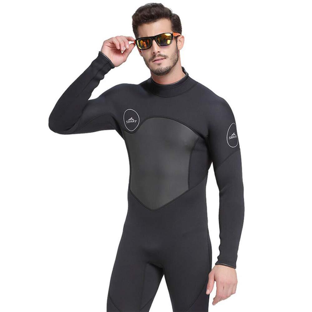 grand HUOFEIKE Costume De Plongée pour Hommes, Combinaison Néoprène 3 Mm en Néoprène Siamois Combinaison De Plongée, dans Le Dos Chemise De Plongée sous-Marine Plongée en Apnée Surf Natation s