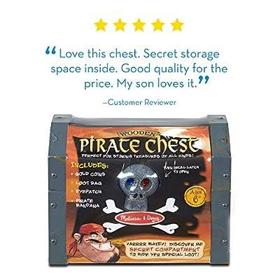 Melissa & Doug Wooden Pirate Chest: Melissa & Doug: Toys & Games