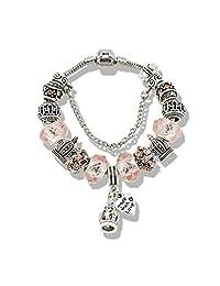 Edith Windsor Fashion Jewelry Bohemian Charm Bracelet with Glass Beads