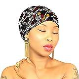 DESIGN 58 White Orange Head Wrap   100% Cotton HEAD SCARF   Royal Head Wraps