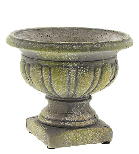 Lucky Winner Distressed Cement Urn Garden Planter Statue, - Garden Winner