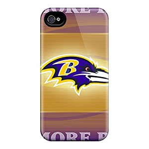 Shock Absorbent Hard Cell-phone Cases For Iphone 4/4s With Customized Fashion Baltimore Ravens Pictures RichardBingley