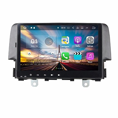 bocid Android 7.1クアッドコア9インチ車DVD GPSラジオマルチメディアプレーヤーfor Honda Civic 2016 with Bluetooth Wifi mirror-link USB DVR B077VVVQMX