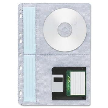 Funda blanda de archivadores Compucessory Multiperforadas CD de plástico para discos de Batería de ion de litio 4 CCS22287 [unidades 10]: Amazon.es: ...