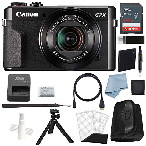 Canon G7x Mark II Digital Camera Bundle + Canon PowerShot g7 x Mark II Deluxe Accessory Kit – Including EVERYTHING You Need To Get Started