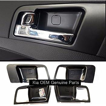 Chrome inside door handle catch set 4p for kia 2011 2013 optima k5 oem parts automotive for 2008 kia spectra interior door handle