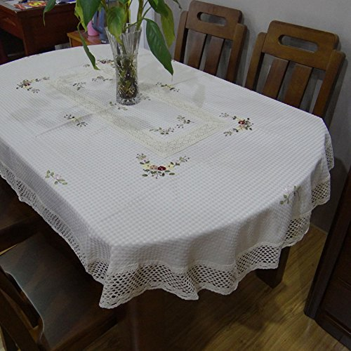 Qi Tablecloths Pastoral Style Table Tablecloth Cotton And Linen Embroidery Coffee Table Cloth