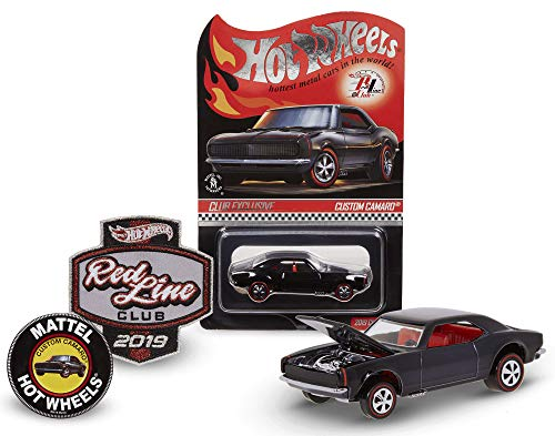 Hot Wheels 2019 Redline Club Kit with Black Custom Camaro Limited Edition 1:64 Scale Collectible Die Cast Metal Toy Car Model RLC
