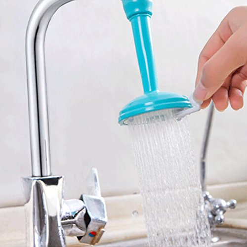 Transer Kitchen Bath Shower Faucet Splash SPA Filter Tap Device Head Nozzle Water Saving (Blue)