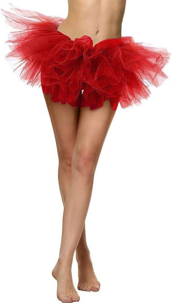 Nevera Women 1950s Vintage Layered Tulle Tutu Teen/'s Puffy Ballet Bubble Skirt