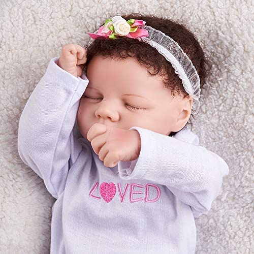 JIZHI Realistic Newborn Baby Dolls Hand Painted 17 Inch Lifelike Reborn Baby Dolls Real Life Baby Dolls for Collection or Kids Age 3+