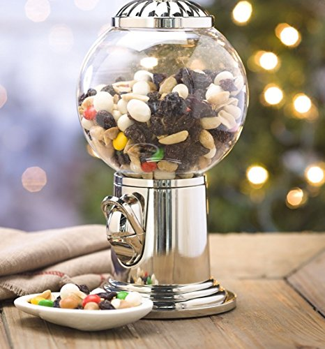Elegant Candy Dispenser Gumball Machine With Silver Top