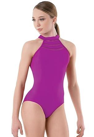 0855d61de913 Amazon.com  Balera Leotard Girls One Piece For Dance Halter Neck ...