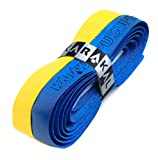 Karakal PU Supergrip replacement racquet grip - tennis / badminton / squash - Yellow / Blue x 6