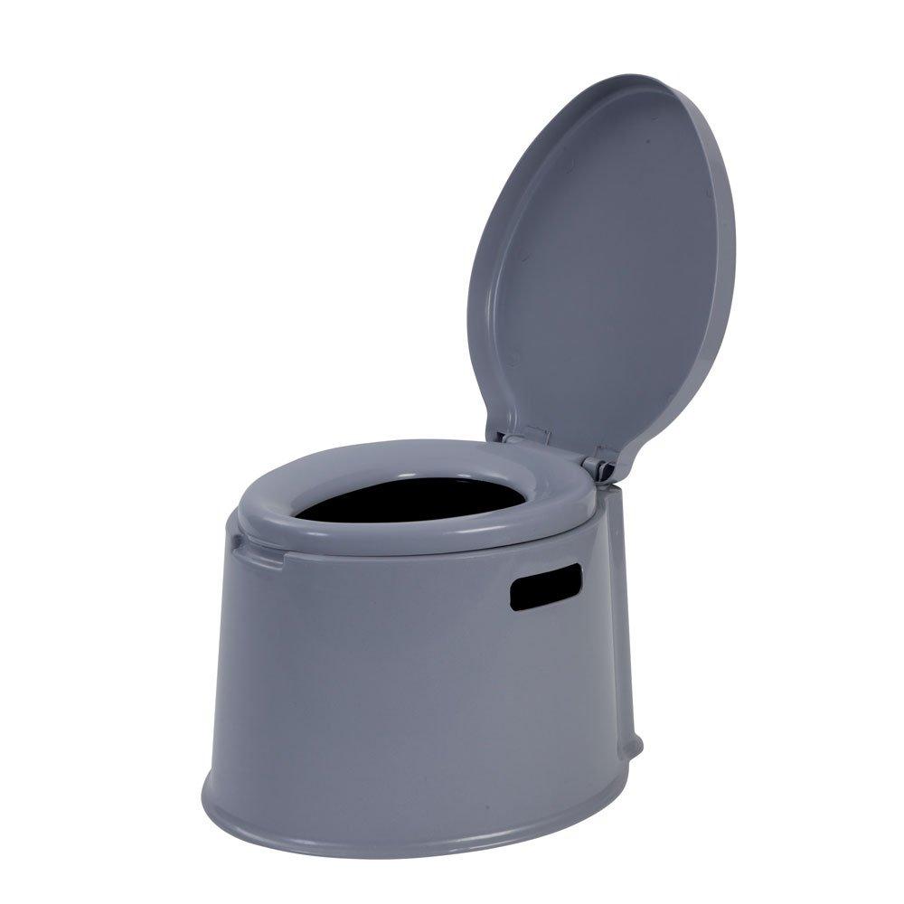 Mobile Toilette, Camping Toilette in Grau, Inhalt: 7 Liter, 40 x 48 cm
