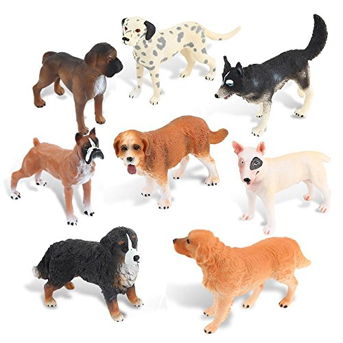 Ericoo Animal Toys Educational Resource High Simulation Dogs Figures with CPC Approval and ASTM Test Assembly of Doggies -Anim008 by Ericoo