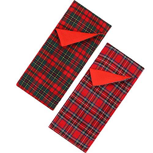 [해외]2 Pieces Christmas Sleeping Bags for Elf Doll Red Plaid Sleeping Bag Accessory for Elf Doll Decorations 2 Styles (Doll is not Included) / 2 Pieces Christmas Sleeping Bags for Elf Doll Red Plaid Sleeping Bag Accessory for Elf Doll D...