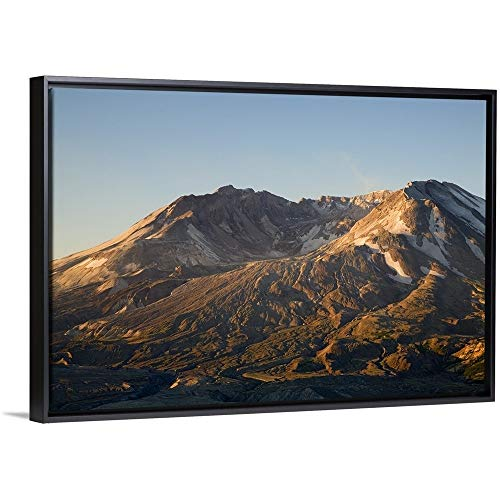 Jamie and Judy Wild Floating Frame Premium Canvas with Black Frame Wall Art Print Entitled Mt. St. Helens Crater with Lava Dome, View from Johnston Ridge 48