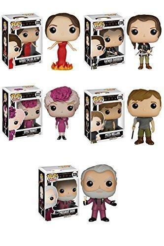 The Hunger Games Katniss Girl on Fire, Katniss Everdeen, Effie Trinket, Peeta Mellark, President Snow Pop! Vinyl Figure Set of -