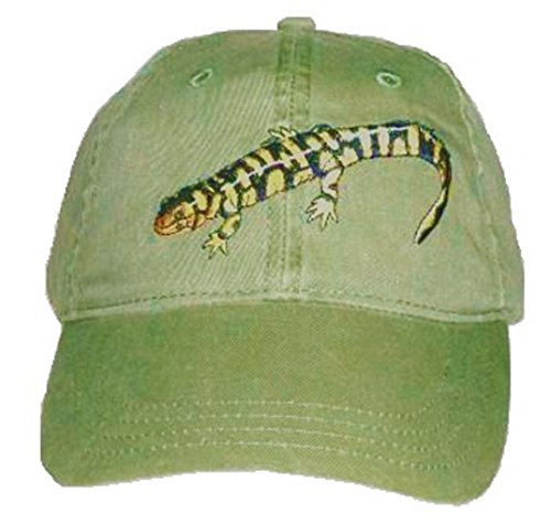Tiger Salamander Embroidered Cotton Cap Green
