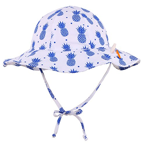 Printed Floppy Hat (Jasmine Girls' Printed UPF 50+ Sun Protection Safari Bucket Floppy Hat,2-4 Years)
