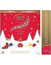 Lindt Lindor Christmas Advent Calendar 2020 Holiday & Christmas, Assorted Chocolate, Gift Box, 158g