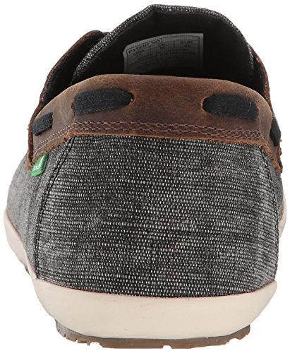 Sanuk Men's Casa Barco Vintage Boat Shoe, Black, 8 M US