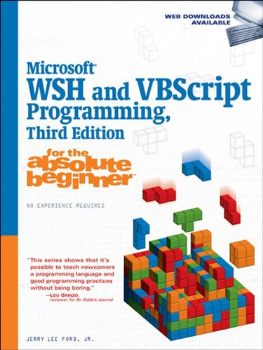 Microsoft WSH and VBScript Programming for the Absolute Beginner Pdf