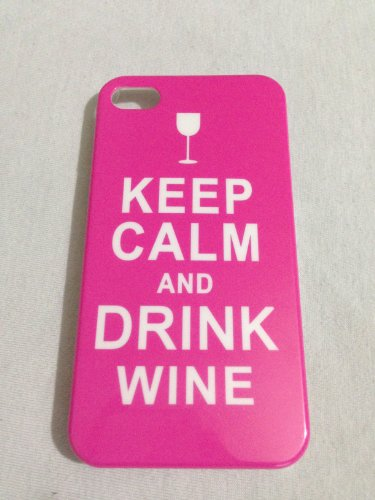 Kruzroyal Coque pour iPhone 4 et 4S Modèle Keep Calm and Drink Rose
