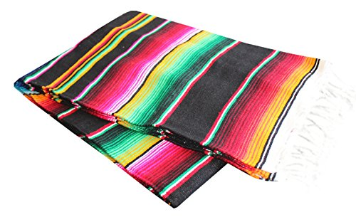 Del-Mex-Mexican-Serape-Blanket-Assorted-Sizes-Colors