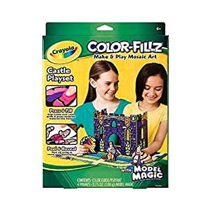 Crayola Color Fillz Make and Play Mosaic Art Castle Playset with Model Magic