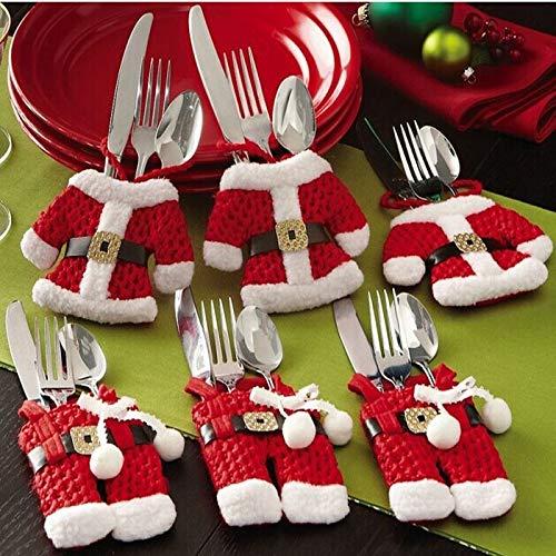 CHITOP Christmas Decoration for Home - Silverware Holdersanta