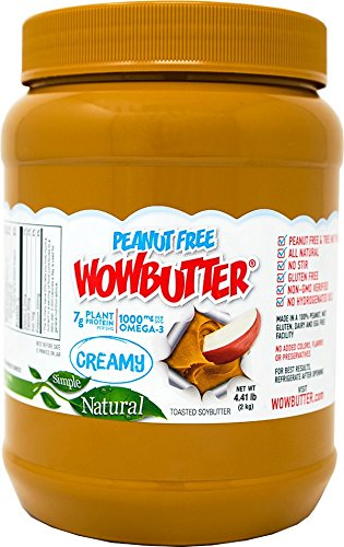 Creamy Soy Nut Butter - Wowbutter Natural Peanut Free Creamy 4.4lb Jars, 2 Pack