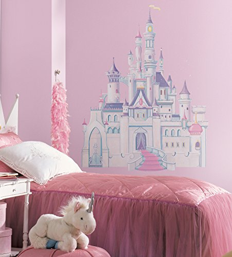 Roommates Rmk1546Gm Disney Princess Glitter Castle Peel & Stick Giant Wall Decal