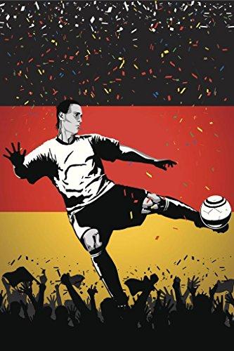 Germany Soccer Player Sports Cubicle Locker Mini Art Poster 8x12 (Germany Mini Soccer Ball)