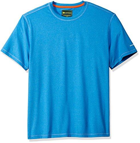 D&g Mens Clothing (G.H. Bass & Co. Men's Short Sleeve Explorer Second Skin Tee, Blue Skydiver, X-Large)