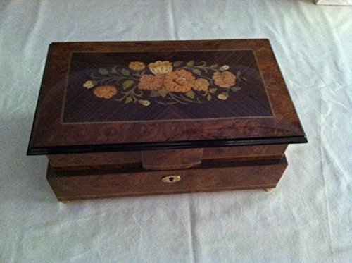 Reuge Music Extra Large Two Level Jewelry Box Made in Italy with 30 Note Movement