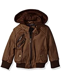 Urban Republic Baby Boys Pu Suede Faux Leather Jacket