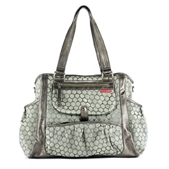 Skip Hop Studio Diaper Bag Tote Bag, Pewter Dot (Discontinued by Manufacturer)